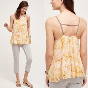 ANTHROPOLOGIE HD in Paris Joselyn Yellow Cami Tank
